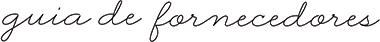 Guia de fornecedores