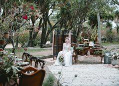 Rústico Vibrante Vestida de Noiva